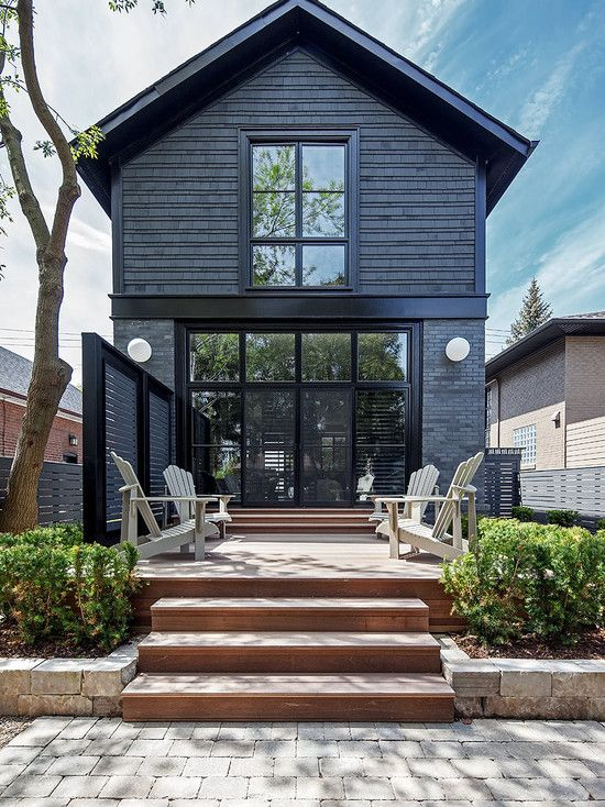 Little Black Houses - Image via Houzz